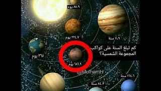 كواكب المجموعه الشمسية مذكورة في القرءان منذ 1400 سنة .. سارع بالمشاهدة !!