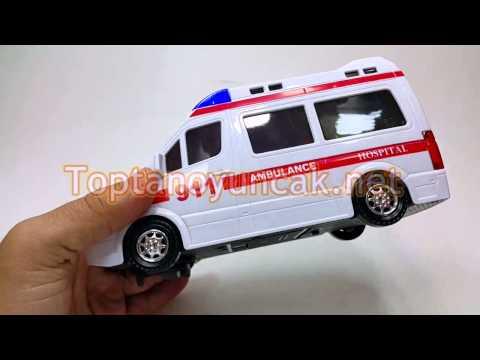 Toptan 3D ışıklı ambulans sirenli hareketli harika oyuncak