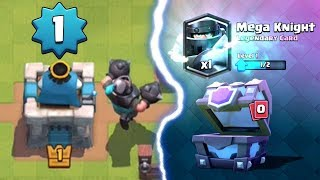LEVEL 1 PLAYER UNLOCKED A MEGA KNIGHT | Clash Royale | Mega Knight Chest