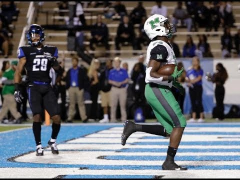 Marshall vs Middle Tennessee 2017 Week 8 Highlights