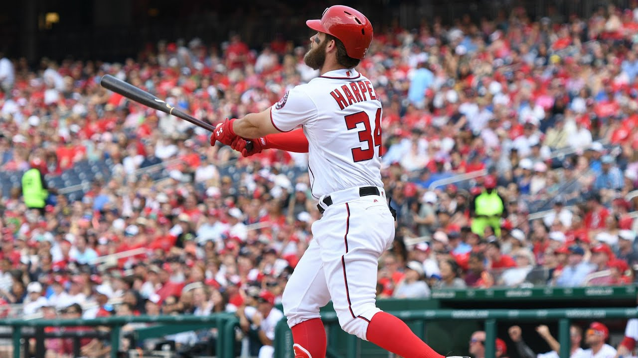 Phillies star Bryce Harper hit by 97 mph pitch in the face, says he ...