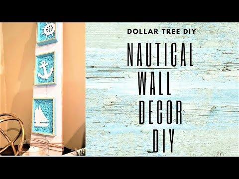 DOLLAR TREE DIY NAUTICAL WALL DECOR ~ SUMMER HOME DECOR DIY