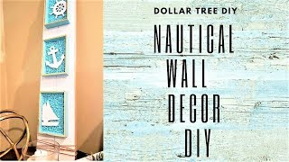 DOLLAR TREE DIY NAUTICAL WALL DECOR ~ SUMMER HOME DECOR DIY