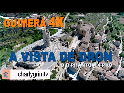 GUIMERÀ EN 4K A VISTA DE DRON, dji phantom 4 pro 4k, beautiful villages of catalonia, video 4k