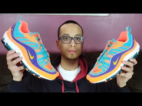 sale retailer 62683 38892 Why did These Sellout? Nickelodeon x Nike!? NIKE AIR MAX 98 CONE VIBRANT  AIR REVIEW!!!