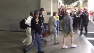 Nick Saban arrives at national championship game