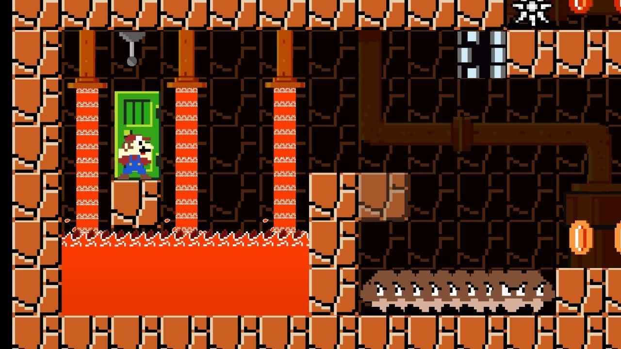 Mario vs Underground Lava Maze