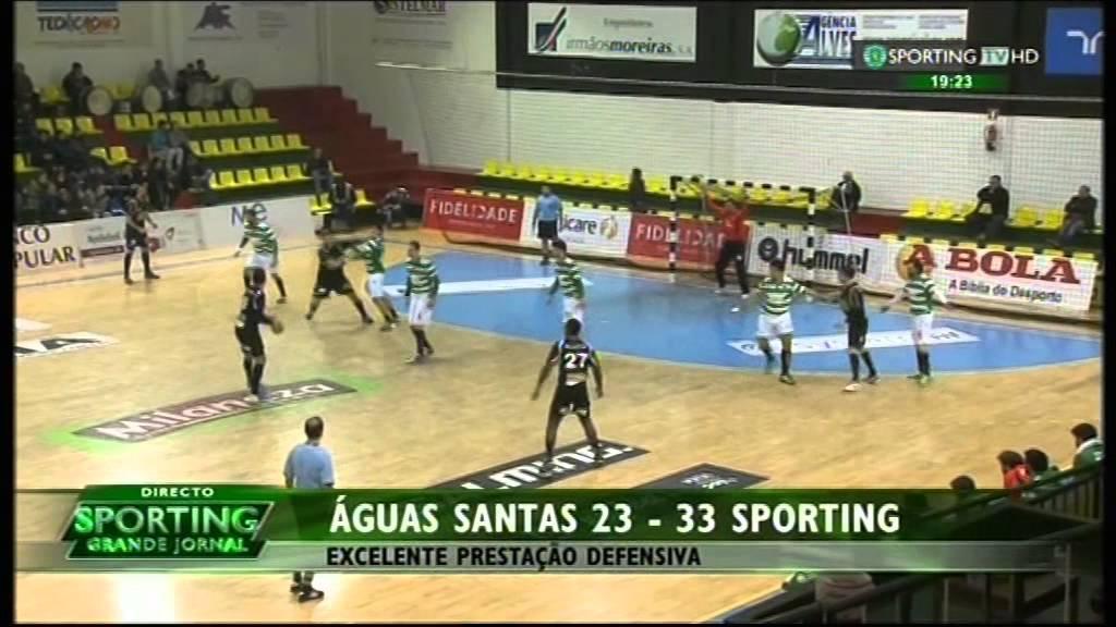 Andebol :: 17J :: Águas Santas - 23 x Sporting - 33 de 2014/2015