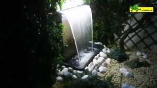 Ubbink stainless steel waterfall Niagara 60 LED