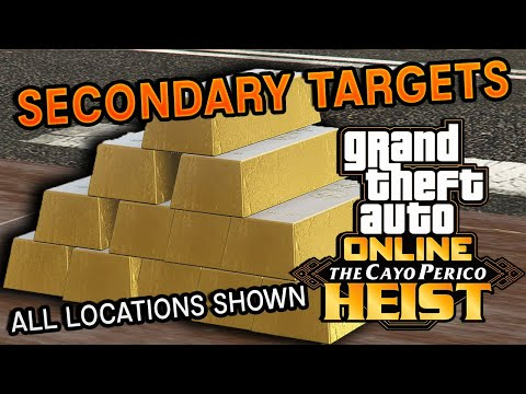 ALL Secondary Targets Locations in Cayo Perico Heist   GTA 5 Online