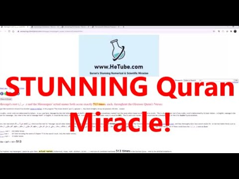 Download Quran STUNNING Miracle: Message root (ر س ل) and the Messengers' actual names both occur 513 times