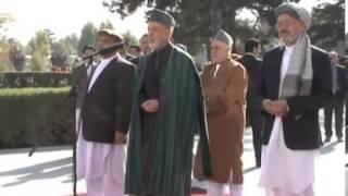 Afghanistan President Hamid  Karzi  Eid  Message Pashto and dari- 2012