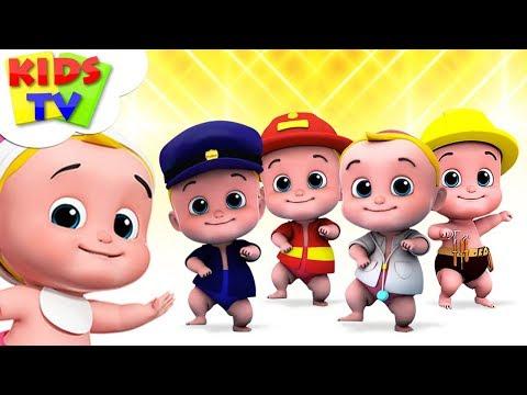 Five Little Babies   Nursery Rhymes For Children   Junior Squad Cartoon   Kids TV