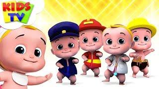Five Little Babies | Nursery Rhymes For Children | Junior Squad Cartoon | Kids TV