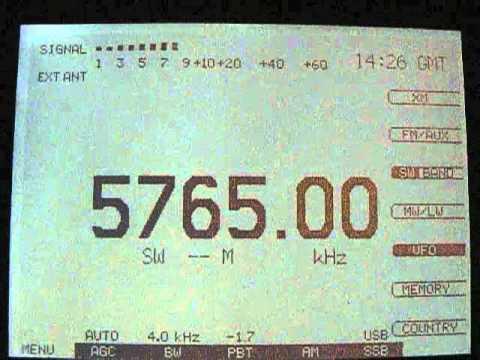 AFN Radio Guam 5765 kHz USB