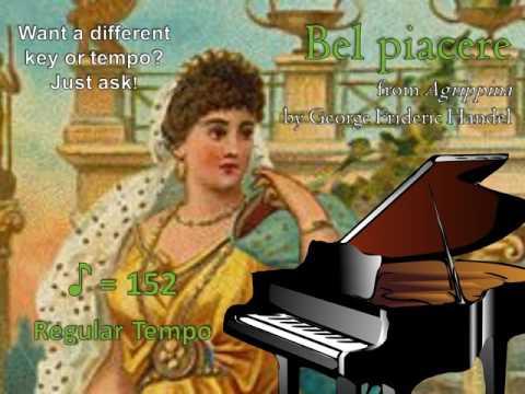 Bel piacere  Handel Piano Accompaniment