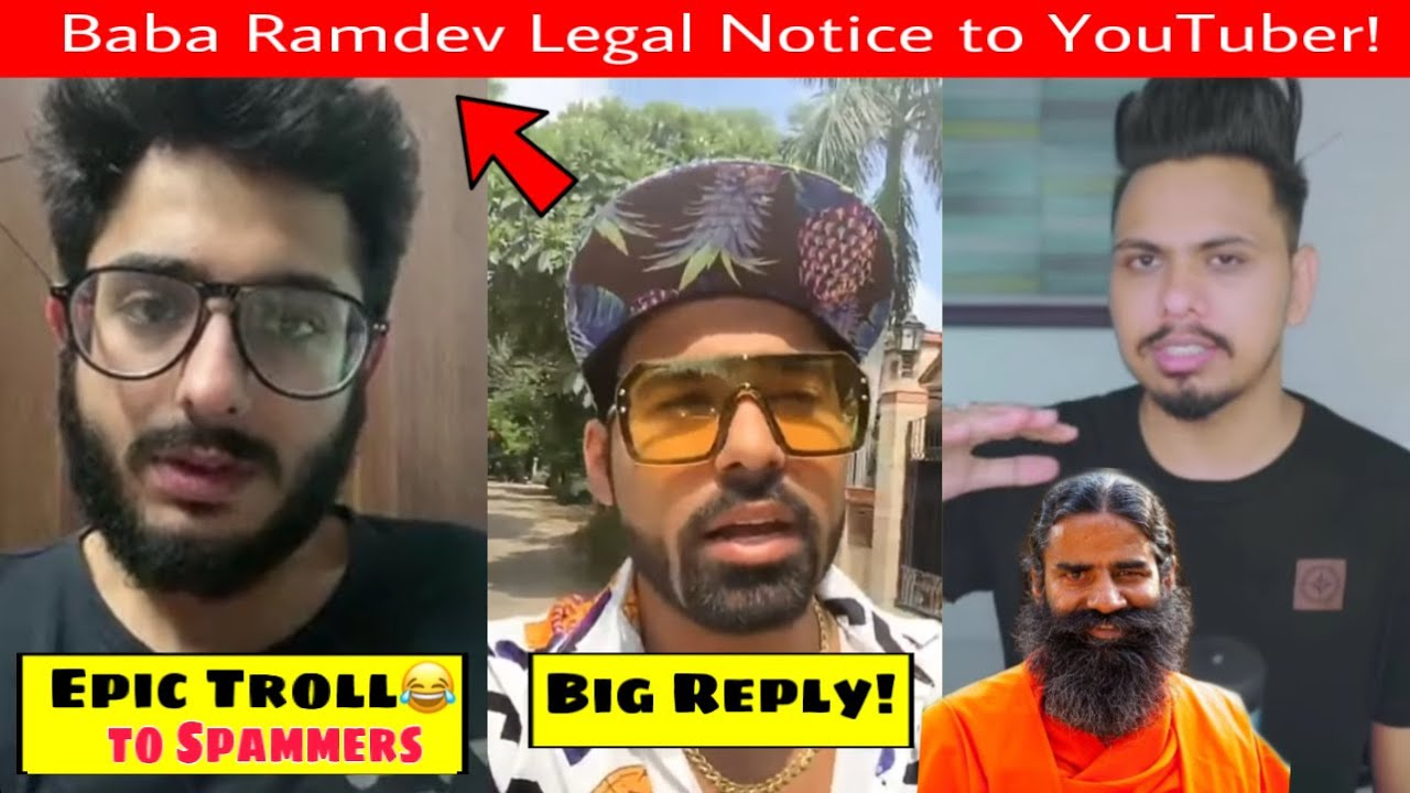 CarryMinati Epic Troll to Spammers😂, Baba Ramdev Legal Notice to YouTuber, GAURAVZONE