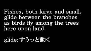 人魚姫です。THE LITTLE MERMAID スピーカーがゆっくり話してくれるので...