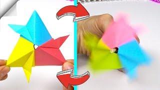 DIY паперу орігамі іграшки видування повітрям - спінінг | антистрес трансформер за 1 хвилину