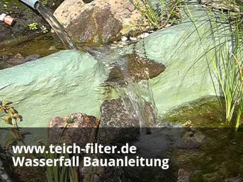 Wasserfall Am Teich Mit Bauanleitung Selber Bauen - Youtube
