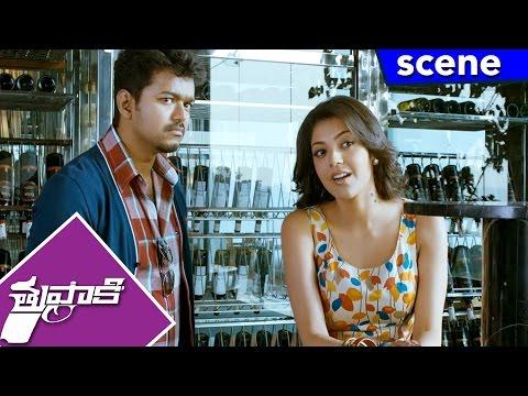 Vijay And Kajal Comedy Scene With Jayaram - Thuppakki Movie Scenes