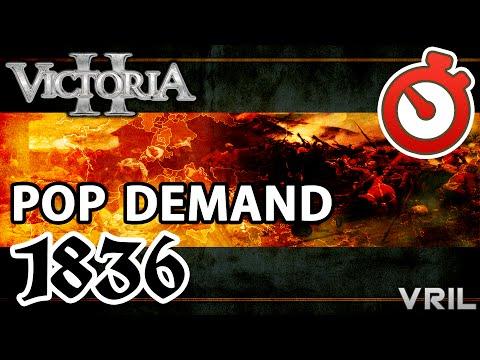 Victoria 2 - Population Demand Mod 1836 - 1936 Timelapse