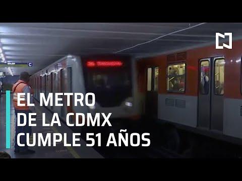 Metro de CDMX cumple 51 años este viernes - Las Noticias