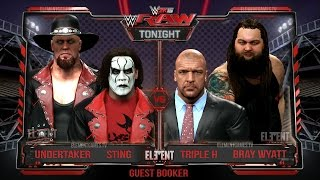 WWE 2K15 RAW - Sting & The Undertaker vs Triple H & Bray Wyatt - Elimination Tag Team - 23/02/2015