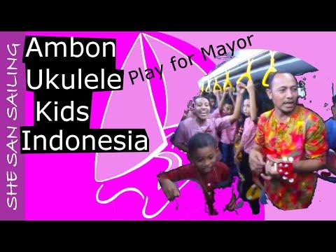 Ambon Ukulele Kids play for their Mayor, Ambon, Indonesia - SHE SAN Sailing