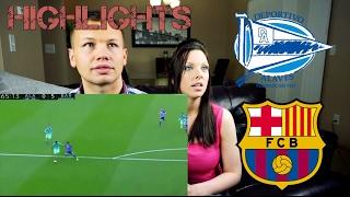 deportivo alaves vs barcelona 0 6 highlight reaction