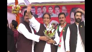 Azam Khan threatens officers in Sambhal during campaigning for local body elections