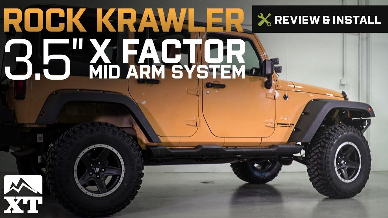 """Jeep Wrangler Rock Krawler 3.5"""" X Factor Mid Arm System w ..."""
