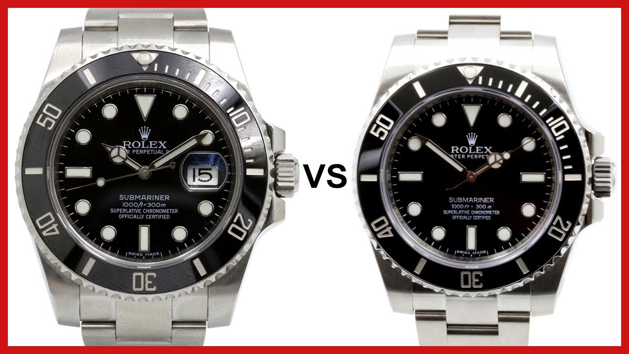 ▶ Rolex Submariner Ceramic DATE vs NO DATE , COMPARISON