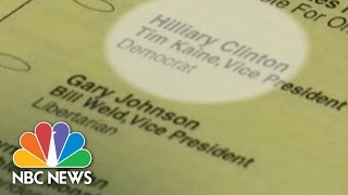 Ballot Typo Leaves Hillary Clinton With 'Liar' In Her Name | NBC news
