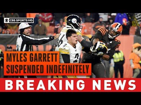 Myles Garrett suspended