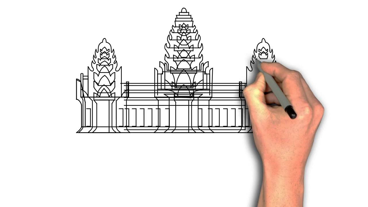 This is a photo of Impeccable Angkor Wat Drawing
