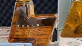 Elon Musk send David Dobrik his new Tesla Tequila.