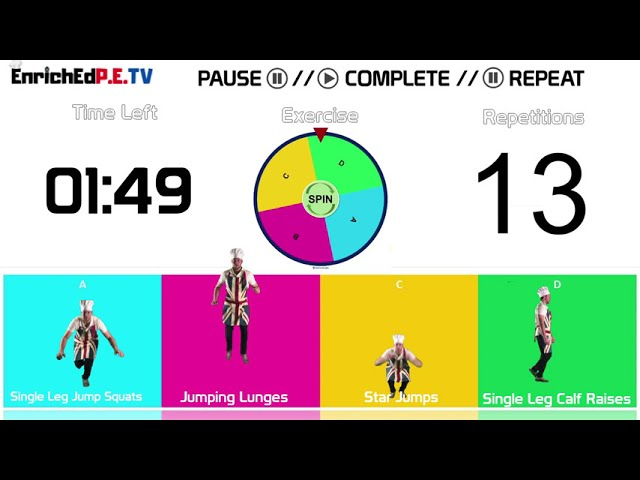 PE Chef S10E5: Fitness Spinner // Round #5