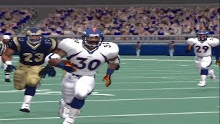 Madden 2001 PS2 Franchise Week 1 Broncos vs Rams