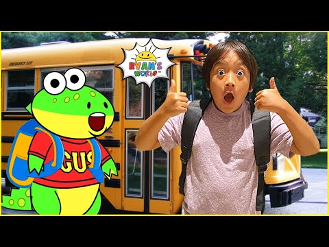 Ryan's First Day of School routine help from Gus!