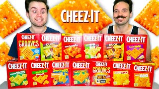 We tried EVERY kind of CHEEZ-IT! Taste Test Review