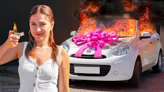 Girl vs Car! Who Will Win / 12 Funny Situations