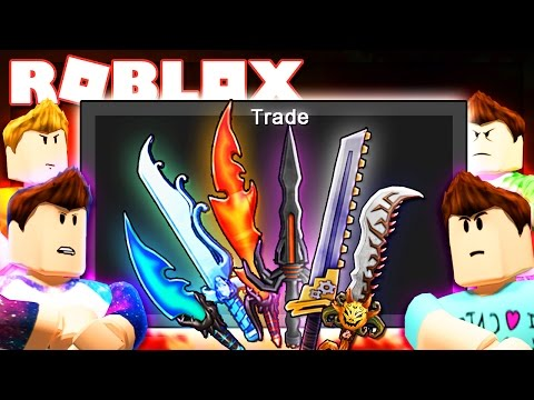 Roblox Adventures - TRIPLE GODLY KNIFE BET CHALLENGE (Murder Mystery 2)