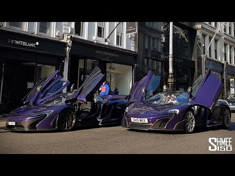 Purple McLarens - P1 Carbon Series And 675LT Spider