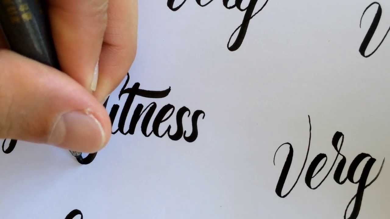 Brush Pen Calligraphy No2