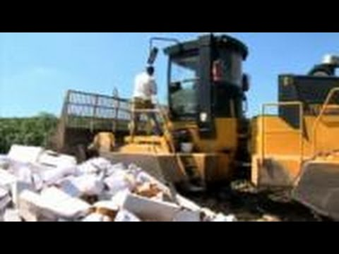 Russia Destroys Tons Of Western Food Imports