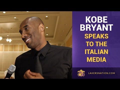 Lakers Kobe Bryant Speaks Fluent Italian