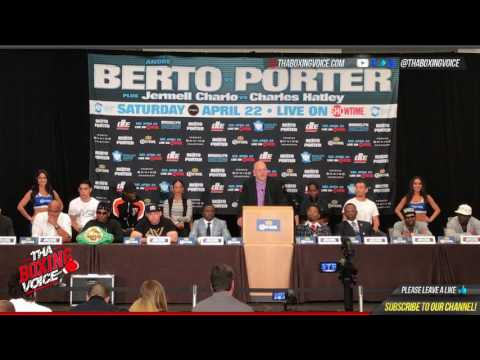 Andre Berto vs Shawn Porter and Jermell Charlo vs Charles Hatley Final Press Conference