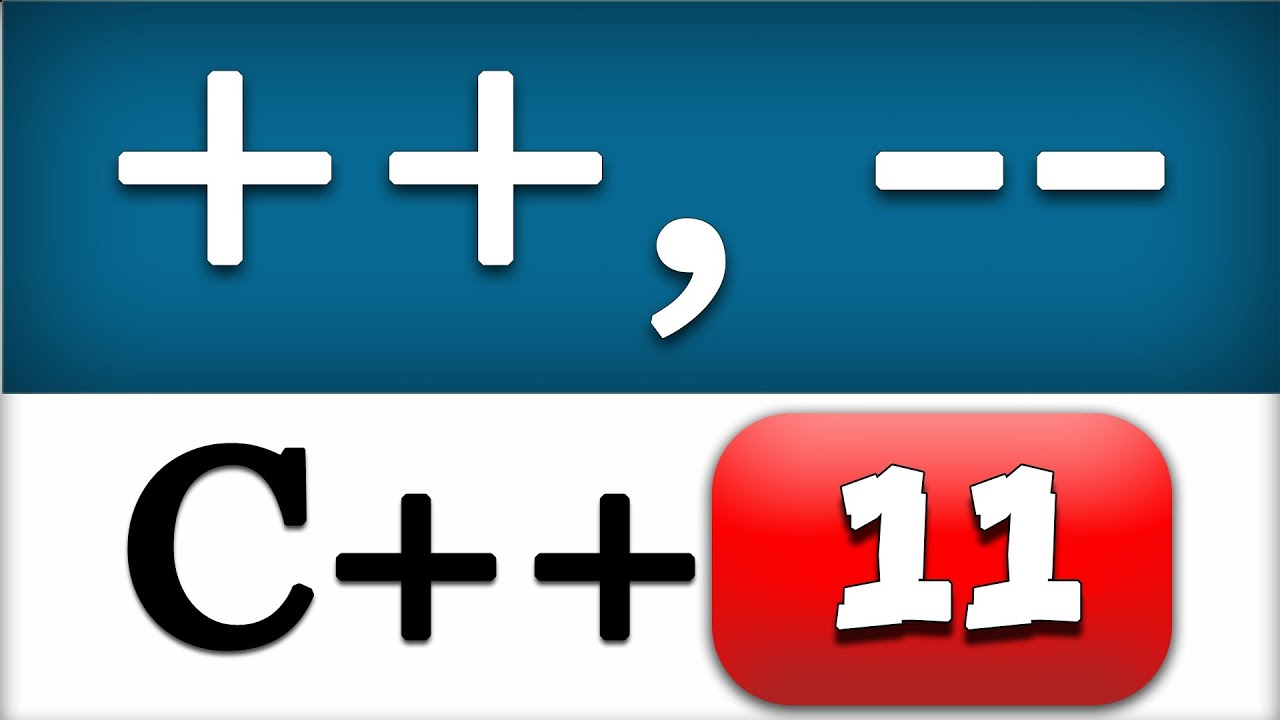 A++ C Increment And Decrement Operators Cpp Programming Video Tutorial