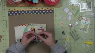 "Scrapbook Layout Process - ""Cousin Time"" - Citrus Twist Kits (Melissa Stinson)"